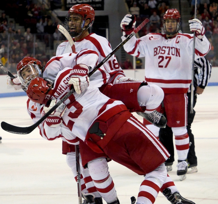 BU hockey JFK goal